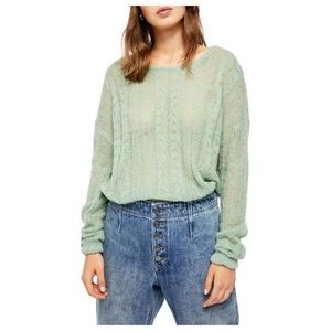 NEW FREE PEOPLE / CABLE KNIT BOAT SWEATER